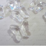 Clear Acrylic Butterfly Beads - 12