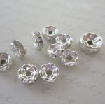 Clear Mini Mix Crystal Spacer Beads