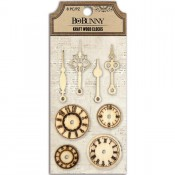 Laser Cut Wood Embellishments - Kraft - Clocks