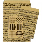 Kraft Gift Bags - Music Notes