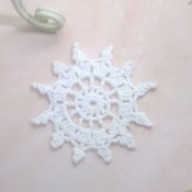 Nautical Vintage Crocheted Doily - 3