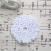 Mini Vintage Crocheted Doily - 5