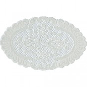 Cream Oval Lace Doily