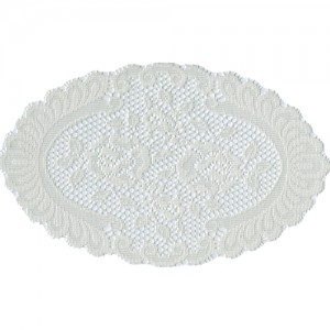 Cream Oval Lace Doily