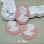 Vintage Lady Resin Cameos - 5pcs