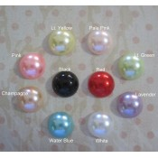 Flat Back Pearls (10mm) - 100pcs