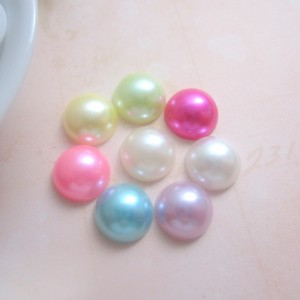 Flat Back Pearls (12mm) - 50pcs