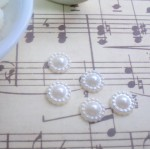 Ivory Flat Back Daisy Pearls (9mm) - 50pcs
