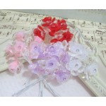 Med. Acrylic & Organza Bell Flowers - 6