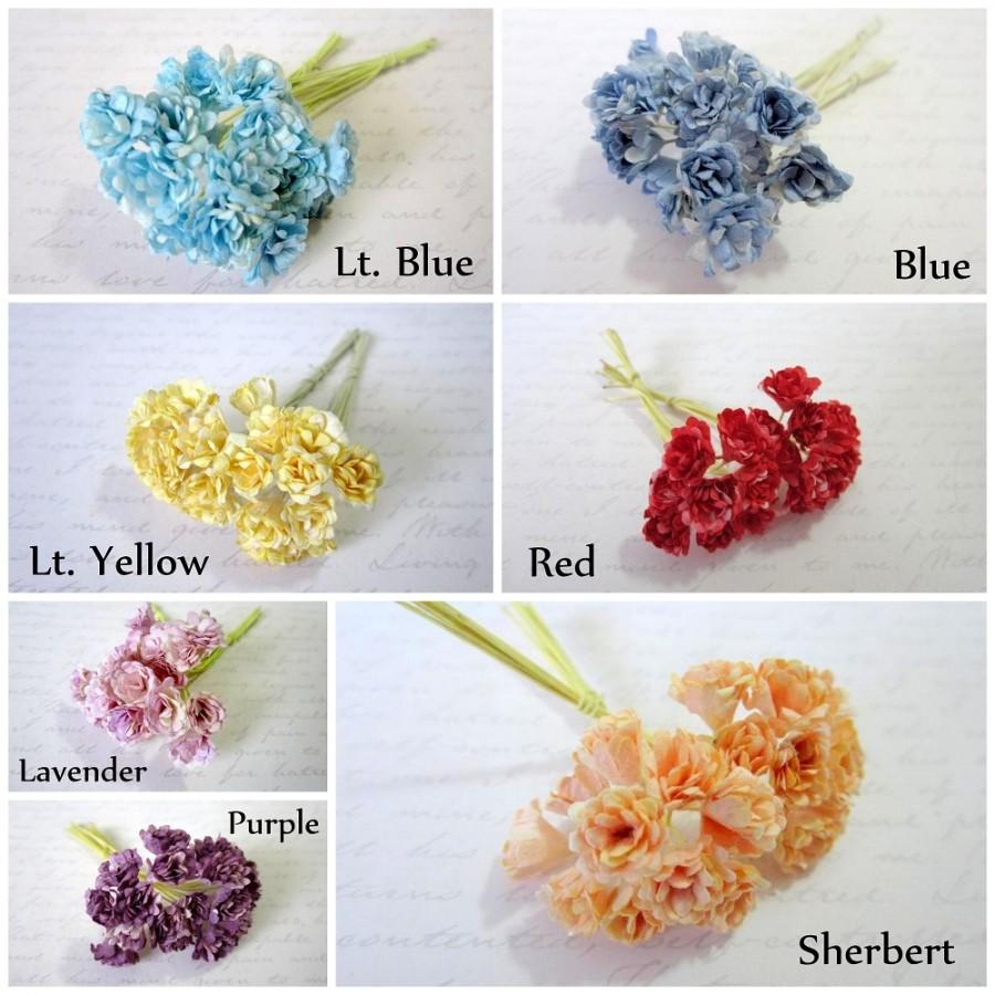 mini chrysanthemum paper flowers