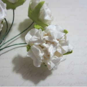White Peony Mulberry Flowers - 48