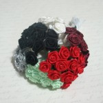 Mini Satin Ribbon Roses - 12