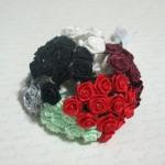Mini Satin Ribbon Roses - 12