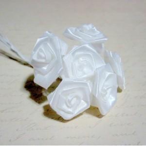Lg. Satin Ribbon Roses - 12