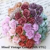 Mini 10mm Open Roses - 100