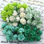 Mini 10mm Open Roses - 100