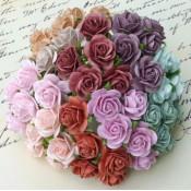 Mini 15mm Open Roses - 100