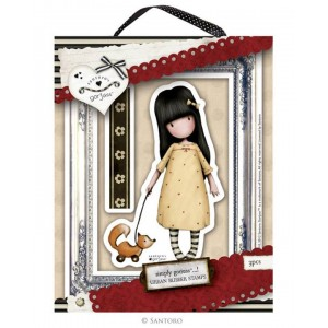 Gorjuss Urban Rubber Stamp Set - The Pretend Friend