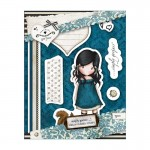 Gorjuss Urban Rubber Stamp Set - You Brought Me Love