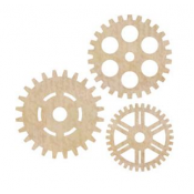 Wood Flourishes - Cogs 3pk