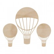 Wood Flourishes - Hot Air Balloons