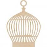 Wood Flourishes - Round Birdcage