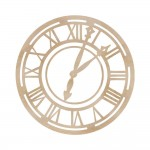 Wood Flourishes - Roman Clock Face