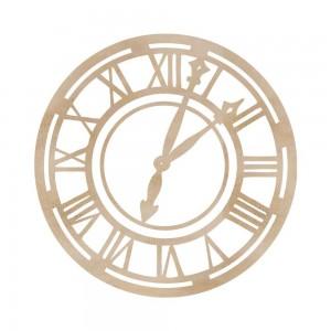 Wood Flourishes - Roman Clock Face