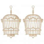 Wood Flourishes - Hanging Birdcage