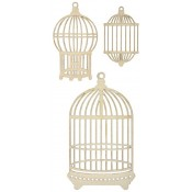 Wood Flourishes - Bird Cages 3pk