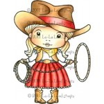Cowgirl Marci Stamp