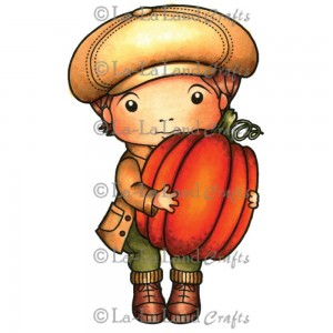 Luka With Pumpkin Stamp