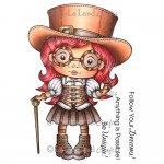 Top Hat Steampunk Marci Stamp