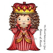 Queen of Hearts Marci (w/ Sentiment) Stamp