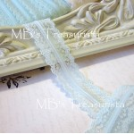 Icy Mint Scalloped Lace  - 1yd