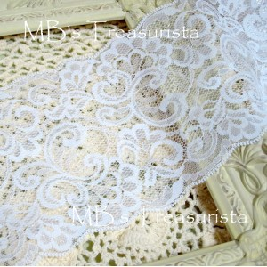 Wide Flourish Lace - 1yd