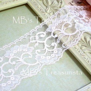 Scalloped Floral Lace #1  - 1yd