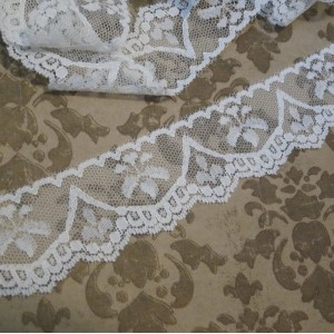 Vintage White Drip Lace -3yds