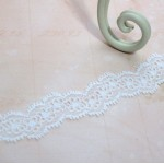 White Blossom Stretch Lace  - 1yd