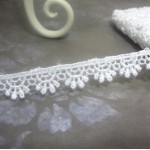 White Scalloped Venise Lace #01 - 1yd