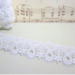 White Floral Loop Venise Lace - 1yd