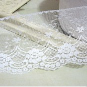 White Wide Scalloped Lace - 1yd