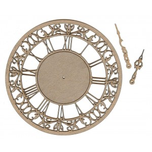Chipboard Embellishments - Clock #2 Small