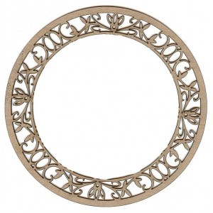 Chipboard Embellishments - Ring Frame Small