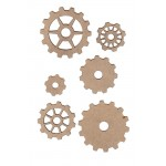 Chipboard Embellishments - Gear Set (6 pc)