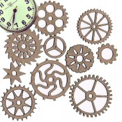 Chipboard Embellishments - Watch Parts