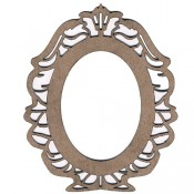 Chipboard Embellishments - French Oval Frame