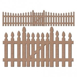 Chipboard Embellishments - Picket Fence