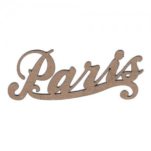 "Chipboard Embellishments - ""Paris"" Word"