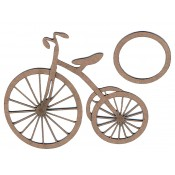 Chipboard Embellishments - Tricycle (2 piece)